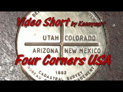 Road trip, four corners USA, four states touch at the same spot!