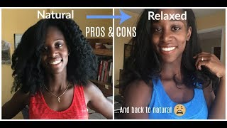 Why I RELAXED My Natural Hair After 4+ Years | Pros & Cons | UPDATE: Back to Natural?!