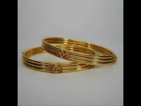 joyalukkas gold bangles - YouTube