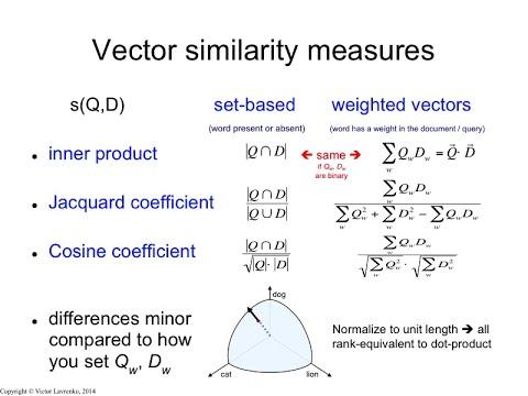IR3 11 Cosine similarity and Jacquard coefficient