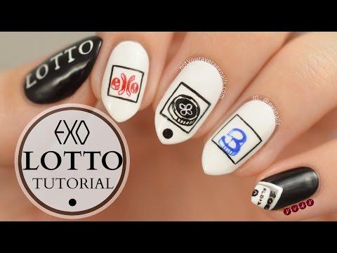 """EXO """"Lotto"""" Nail Art Tutorial"""