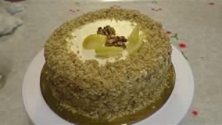 ОРЕХОВО ЛИМОННЫЙ ТОРТ Домашняя выпечка Быстро и вкусно hazelnut lemon cake