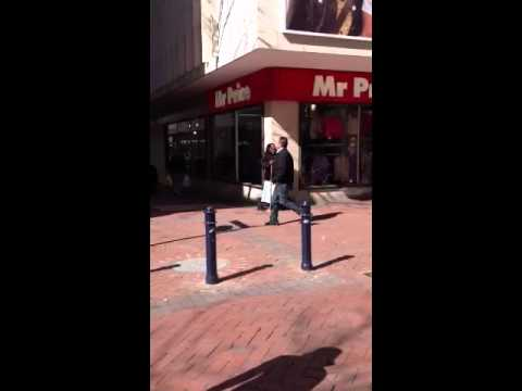 Amazing blind homeless woman singing gospel song in Cape Town