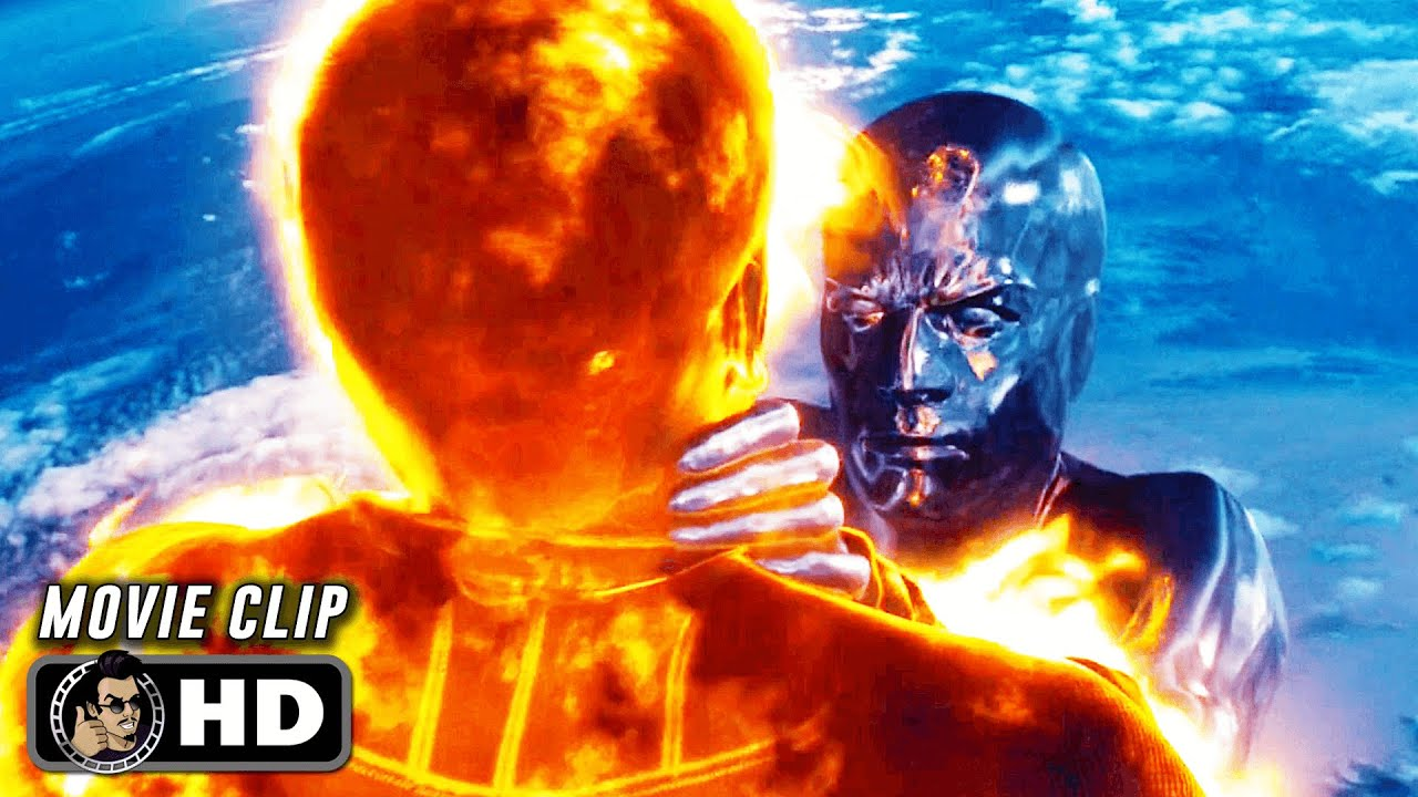 """Download FANTASTIC 4: RISE OF THE SILVER SURFER Clip - """"Human Torch vs. The Silver Surfer"""" (2007)"""