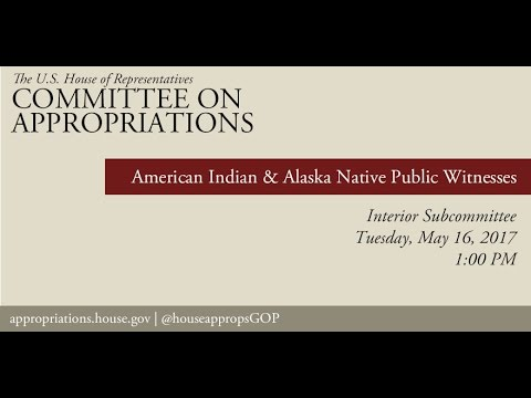 Hearing: American Indian and Alaska Native Public Witnesses (EventID=105949)