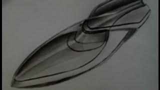 Dibujando una Lancha Bugatti - Bugatti drawing a Boat