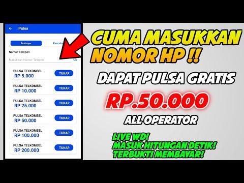 TINGGAL MASUKKAN NO HP DAPAT PULSA RP.50.000 | Apk Penghasil Pulsa Tercepat Terbaru 2021