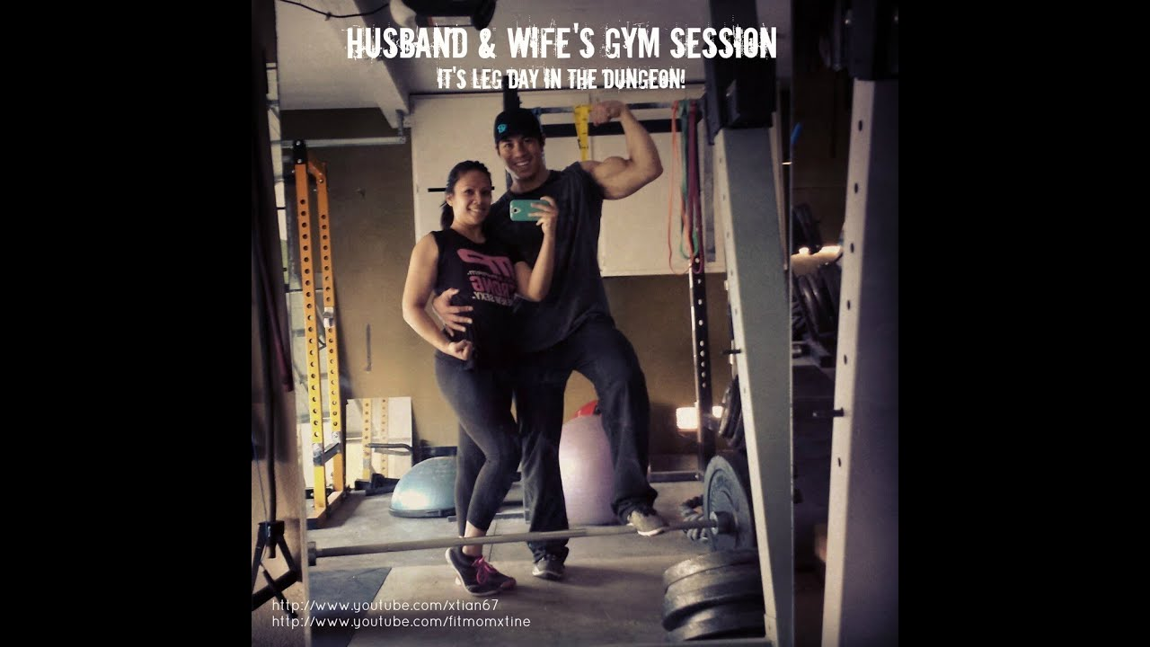 Husband & Wife's Gym Session :: Leg Day in the Dungeon ...
