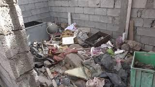 عقب تعرضها للقصف المدفعي الحوثي ،، منازل المواطنين في منطقة المسنا بالحديدة تتحول إلى أطلال