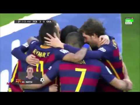 Barcelona vs Granada 4 0 RESUMEN & GOLES 09 01 2016