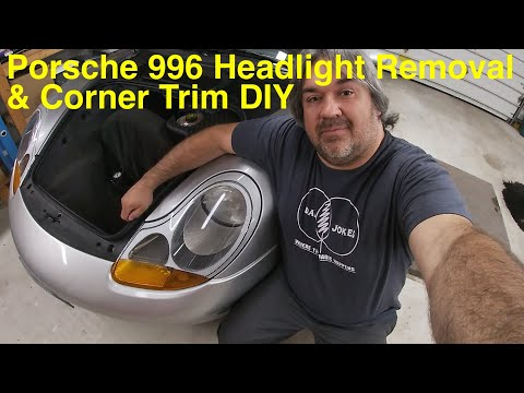 Porsche 911 996 Boxster 986 Headlight Removal and Corner Lens Replacement DIY