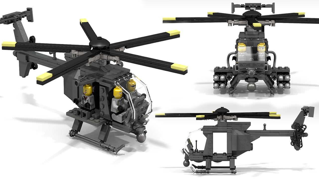 How To Build  Lego MH-6 Little Bird #1
