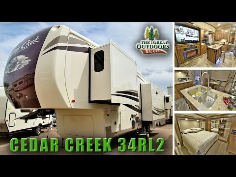 New Luxury Fifth Wheel 2018 FOREST RIVER CEDAR CREEK 34RL2 CC278 Colorado RV Dealer