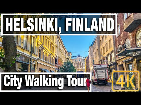 4K City Walks: Helsinki Finland Morning Walk  - Virtual Walk Walking Treadmill Video