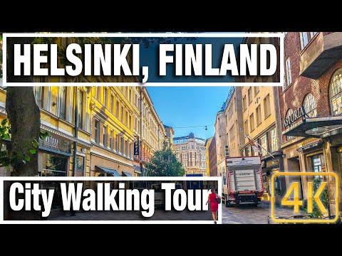 4K City Walks: Helsinki Finland Morning Walk - Virtual Walk Walking Treadmill Video