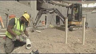 Milwaukee Bucks Arena Construction Plumbing Tour
