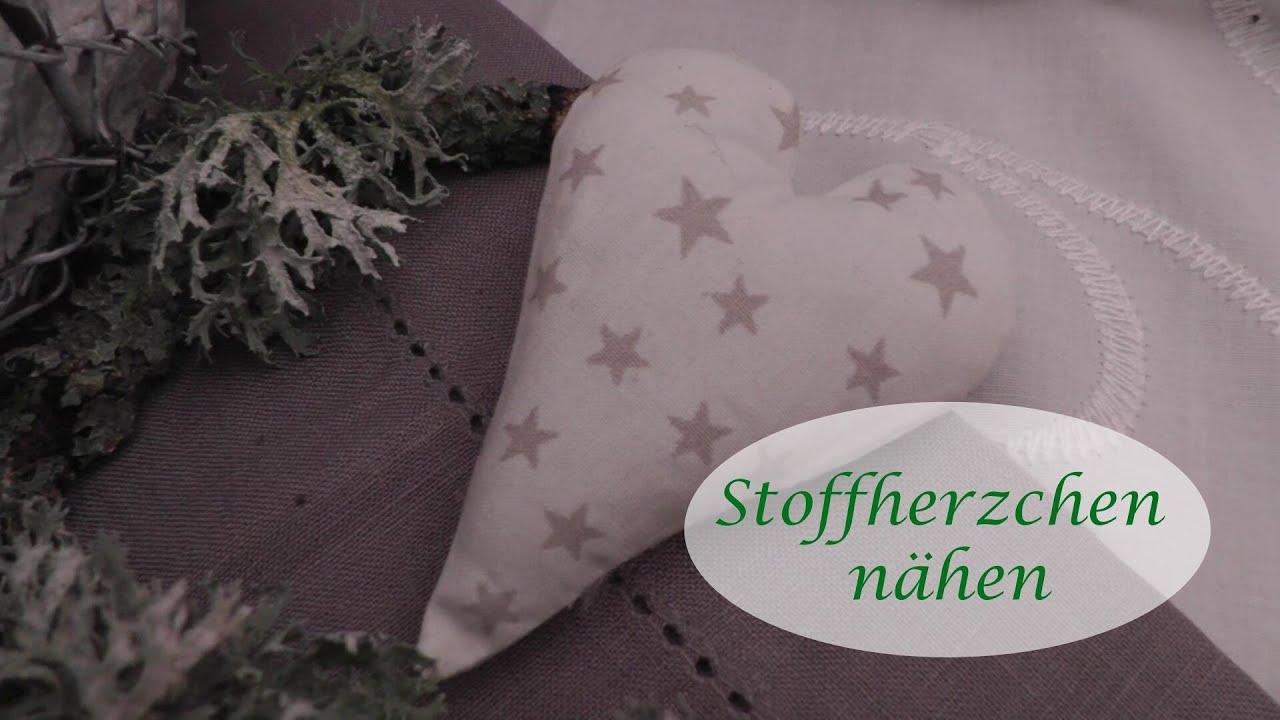 DIY - Stoffherzchen nähen - Anleitung - YouTube