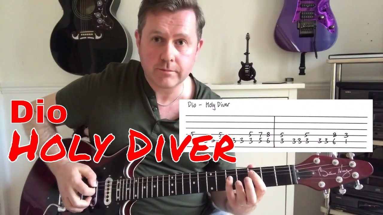 Easy Guitar Lesson Dio Holy Diver Youtube