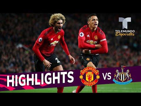 Manchester United vs. Newcastle 3-2 Goals & Highlights   Premier League   Telemundo Deportes