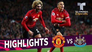Manchester United vs. Newcastle 3-2 Goals & Highlights | Premier League | Telemundo Deportes