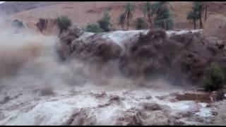 شاهد كيف تاتي سيول الوادي ، واد بوسعادة لحضة بلحظة من قدومه حتى فيضانه  Oued Bou saâda