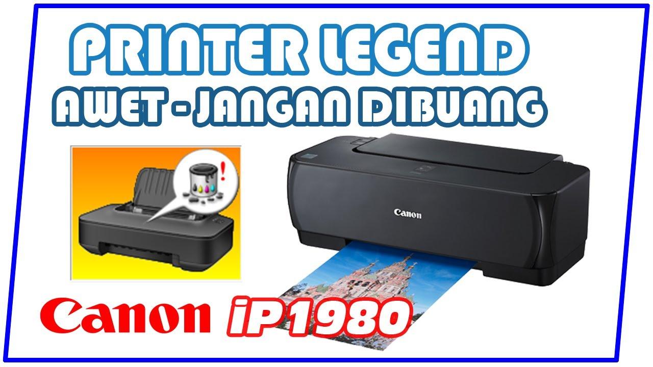 Cara Reset Printer Canon Ip1980 Youtube