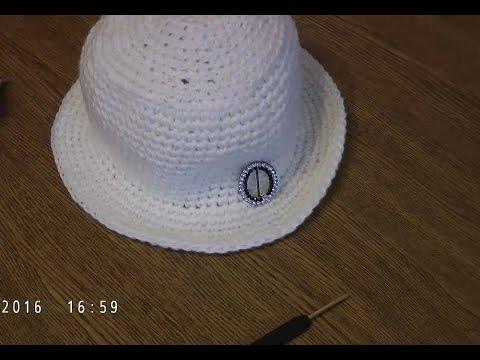 видео: Простая шляпка крючком за один вечер.