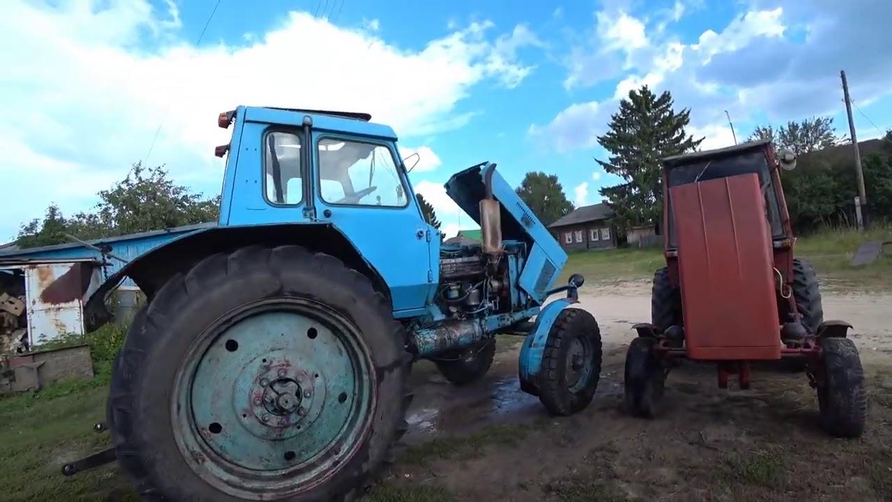 Банный день  тракторного парка.