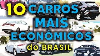 Carros mais ECONOMICOS do Brasil - TOP 10 - Testados !