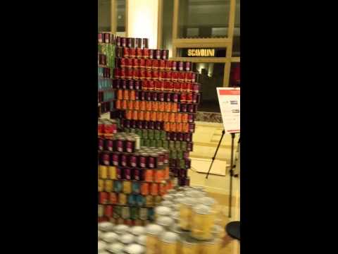 Perkins+Will and Thornton Tomasetti | Canstruction 2015 | Rubiks Cube Walk-Around