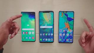 Samsung Galaxy S10 vs Huawei P30 Pro vs Mate 20 Pro | Lector de huellas Video