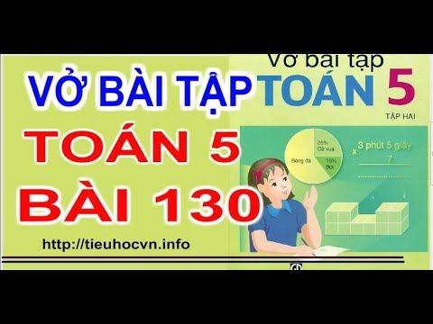 Vở bài tập Toán 5 Bài 130 Cách tính Vận tốc  của một chuyển động đều