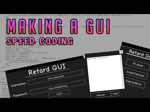 Making a GUI // Speed coding 💯✏️