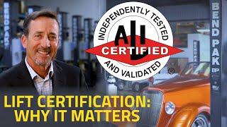 BendPak Talks Truth About Lift Certification