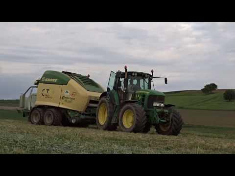 Pressage et Enrubannage   JohnDeere 7530 et Krone Comprima CV150XC   ETA Chris