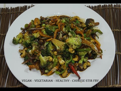 �� �� Chinese Broccoli Cashew Stir Fry Recipe Vegan Wok Easy Quick Tasty