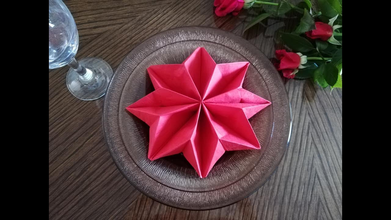 How to fold napkins for setting the festive table!
