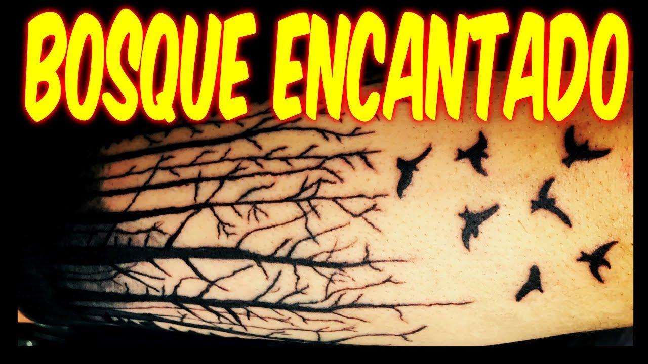 Como Hacer Un Tattoo De Bosque Encantado Tatuaje Tattoo Fort