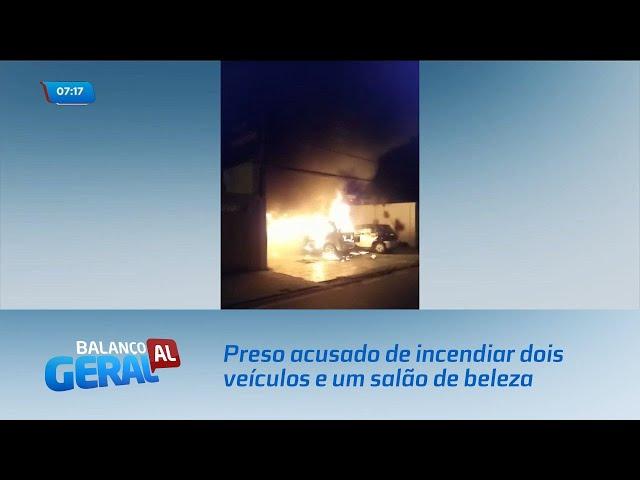 Homem foi preso acusado de incendiar dois veículos e um salão de beleza na Gruta