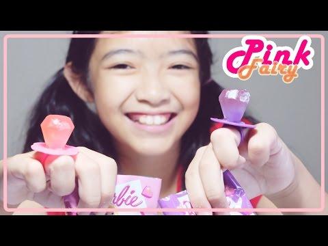ชิม ลูกอมแหวนของเล่นบาร์บี้ Barbie Diamond Pop