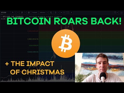 Bitcoin Comes Back! Christmas Impact, Litecoin, McAfee Pumps, Binance, Tax Harvesting - CMTV  Ep113
