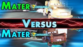 PS3 Cars 2 Mater Vs Mater Survival Mode Showdown On Runway Tour Gold Trophy