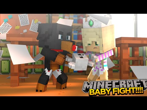 Minecraft - Donut the Dog Adventures -BABY MAX & LEAH FIGHT IN SCHOOL!!