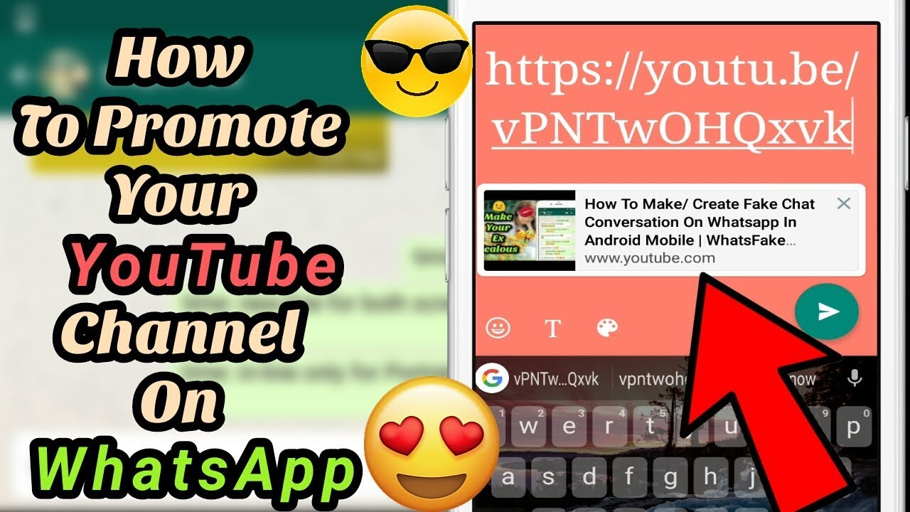 How To Put Your Youtube Video Link On Whatsapp Status Promote Youtube Channel On Whatsapp Story