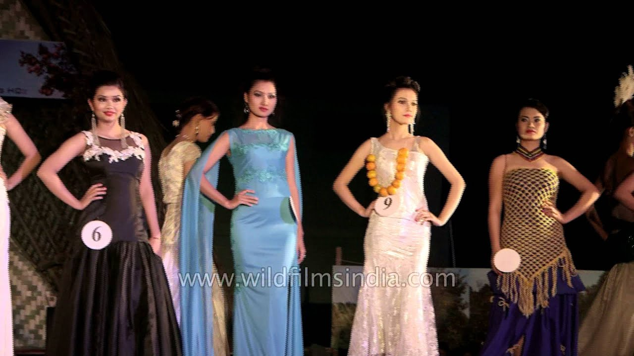 Evening gown round - Tamenglong beauty pageant - YouTube