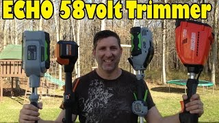 NEW..ECHO 58volt Cordless String Trimmer - Video Review & Demo