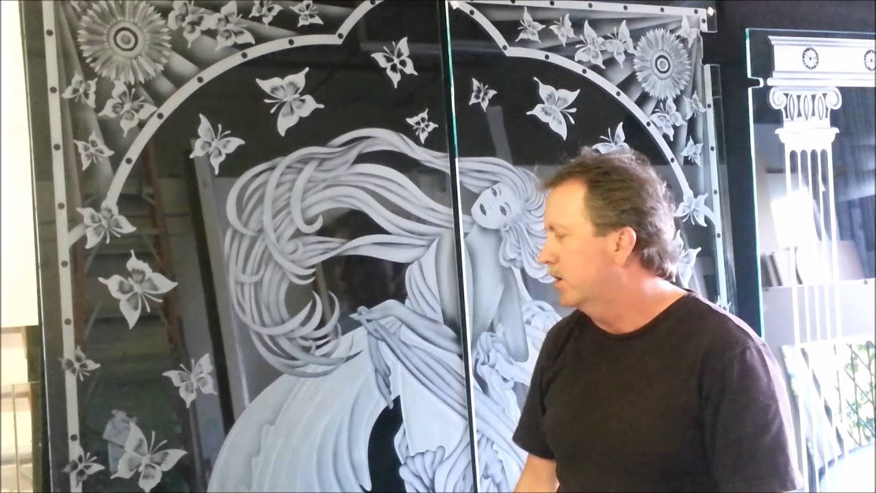 Etched Glass Shower Doors Youtube