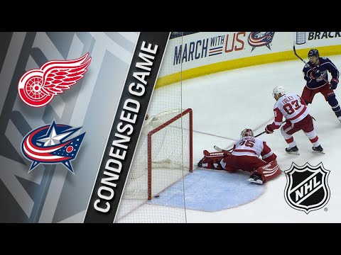 04/03/18 Condensed Game: Red Wings @ Blue Jackets