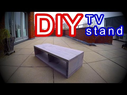 DIY- TV Stand Cabinet - Modern scaffold Planks