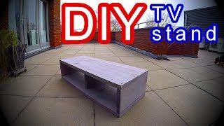 DIY- TV Stand Cabinet - Modern scaffold Planks